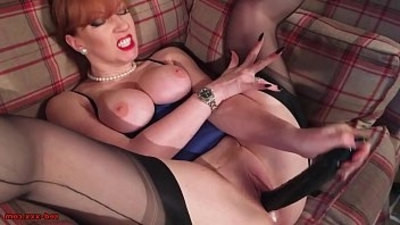 fingering  lingerie  mature  pussy  redhead