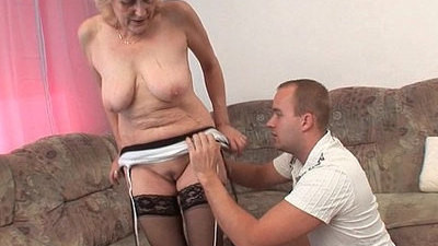 facial   granny   stockings