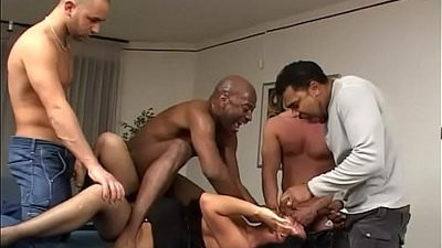 abused   black   brunette   cute   gangbang
