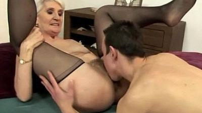 blonde  granny  mature  pussy  sperm eating