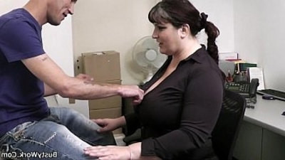 busty girls   office   woman