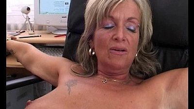 blonde   boss   fucking   mature
